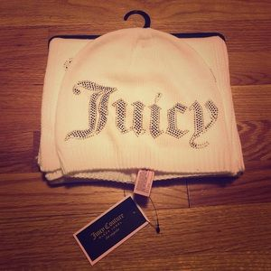 NWT ✨ Juicy Couture Black Label Hat & Scarf
